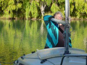 Diane Gilliam-Weeks sailing